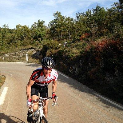 Cycling the col de Murs~Provence