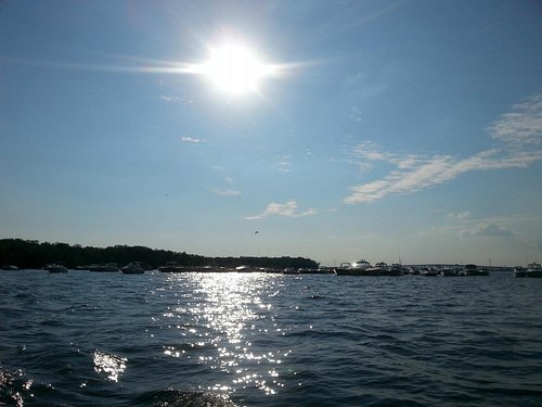 the sun setting on a great summer day on spent on the water!