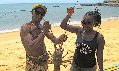 lobster at Lakka