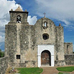 West elevation of Our Lady of Loreto chapel, Goliad, TX.