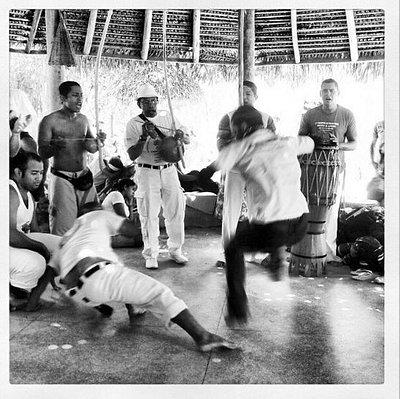Capoeiristas no dia da Consciência Negra.
