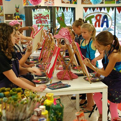 Kids Enjoying the Good Life with A Painting Fiesta!