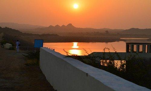 Sunrise over the dam