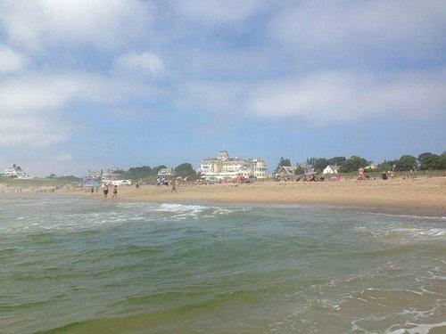 The Ocean House overlooks the beach.