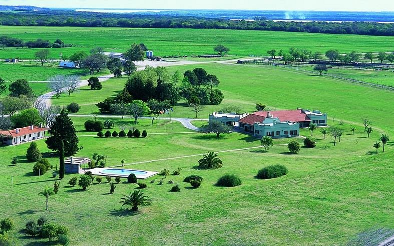 Aerial view of the lodge grounds