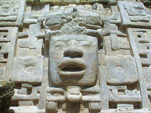 The Mask Templw at Lamanai