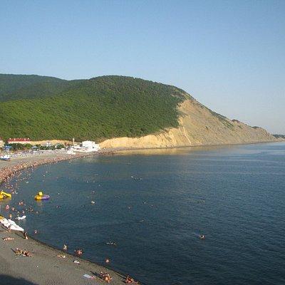 пляж детского лагеря и дикий пляж
