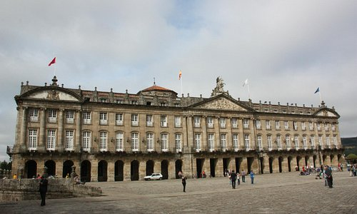 """Santiago de Compostela - """"Pazo de Raxoi"""" en la """"Praza do Obradoiro"""""""