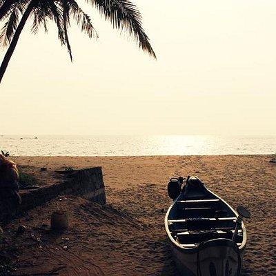 Magical evening at Thottada Beach in Kannur.