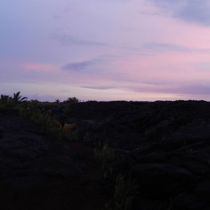Sunset from the Lava Beach