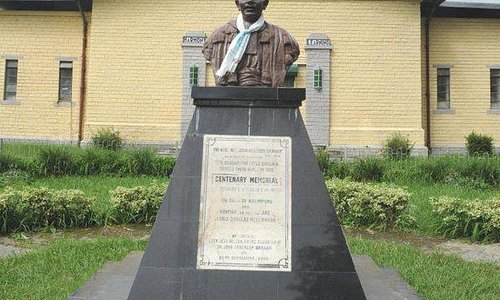 A bust of the founder Dr John Anderson Graham commemorating the 100 years of the school in 2001