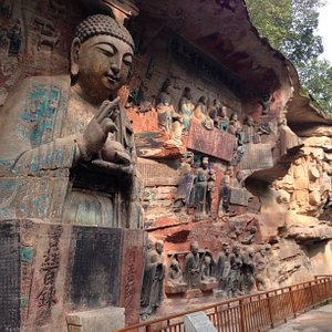 Carvings done during the Song Dynasty. 800 yrs old.