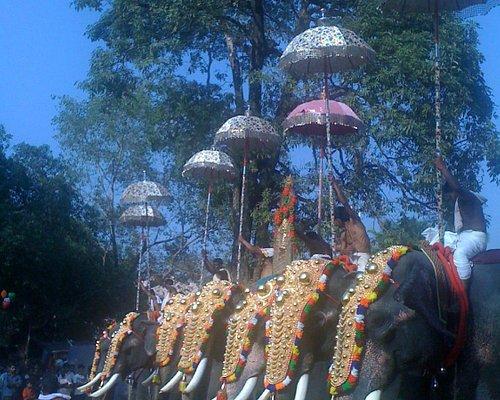 Thalappoli fest at Kodungallur temple