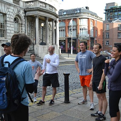 Outside Dublin Castle - Running tour