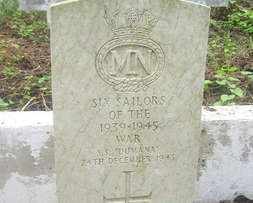 The Commonwealth War Graves Commissions Headstone in Sassandra