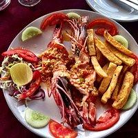 Amazing garlic prawns