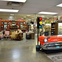 Our greeters desk is a '57 Chevy