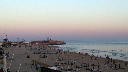Пляж Каркавелуша вечером