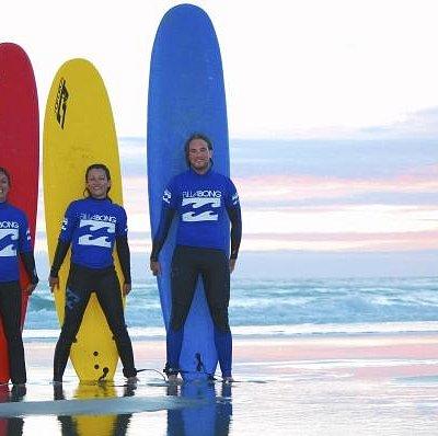 Cours de surf.