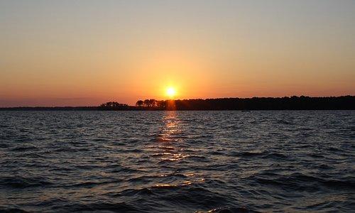 Sunset over Lake Murray