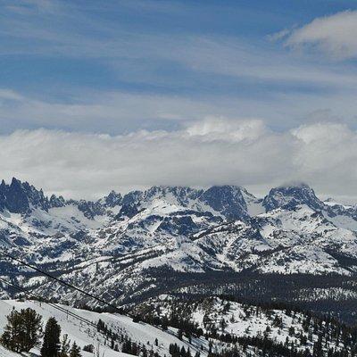 Spring time view of the Minaret Range