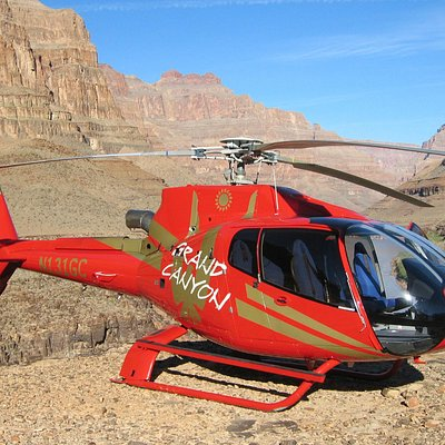 Grand Canyon Helicopter Landing 1