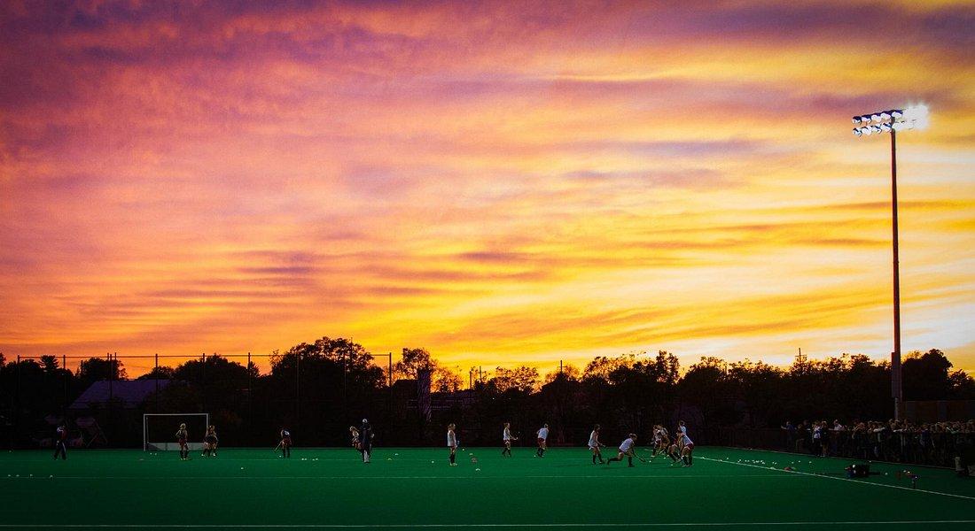 Outdoor field with USA Field Hockey