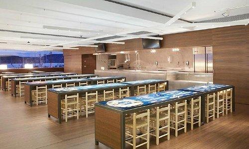 Vista de l'aula gastronòmica de l'Espai del Peix