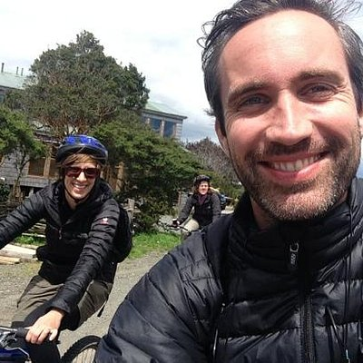 Selfie on Juan Pablo's bike tour.