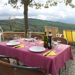 Lunch near Pienza