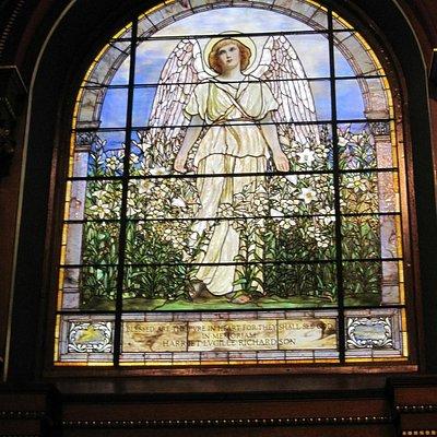 Tiffany window at St. Luke's