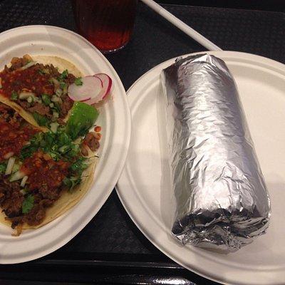 Taco and burrito meals, no sides.