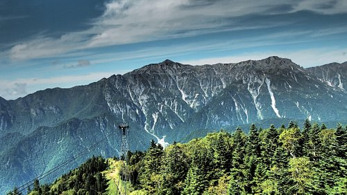 山頂からの景色(加工あり)