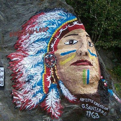 Le rocher et sa tête d'indien, Parc de la Pointe