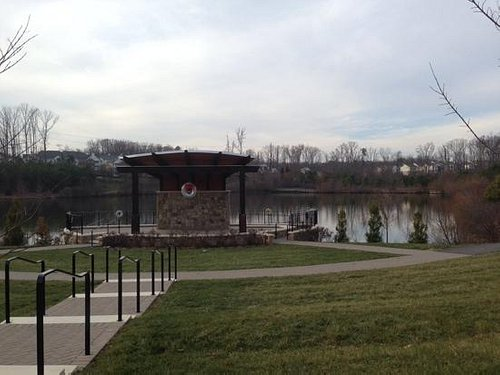 View from the bandstand to the pond.
