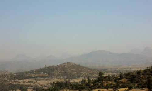 View of country side, Axum