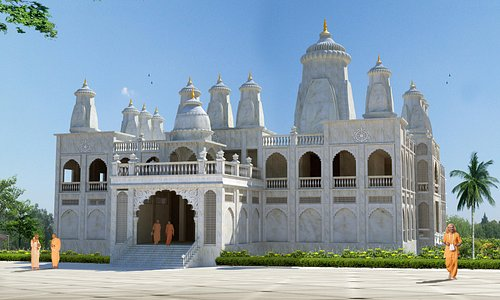 Upcoming Grand Iskcon  Temple  Sri Sri Radha Ras Bihari JI