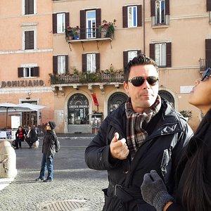 Maurizio explaining to my daughter