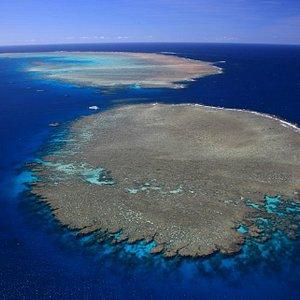 Aerial of Opal Reef