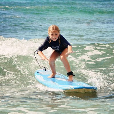 Kids love to surf