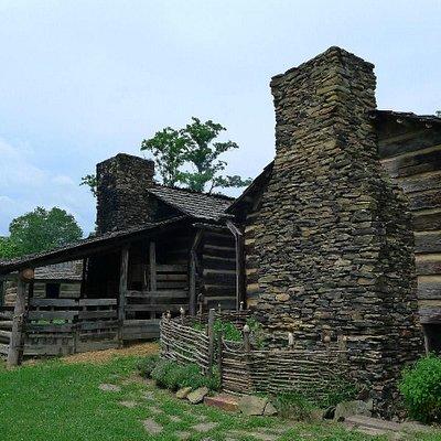 old stone chimney