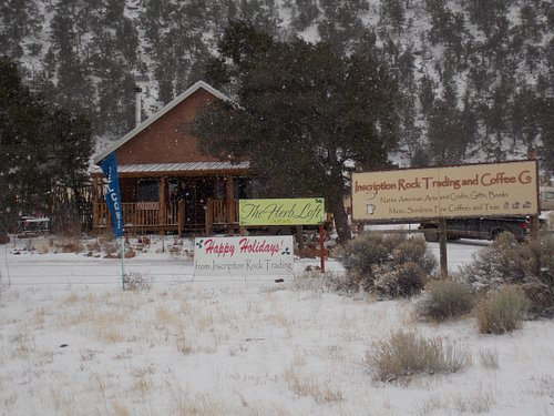 Snowy Day at Inscription Rock Trading and Coffee Co.