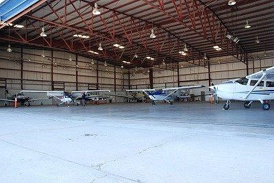 Our hangar...