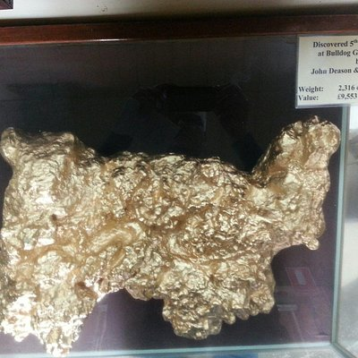 Replica of Welcome Stranger nugget found 1869. Worth over $3,000,000 in 2013.