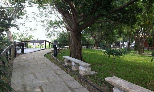 Birdwaching platform behind Confucian Temple.
