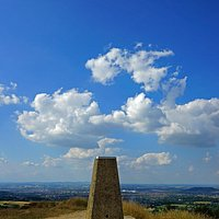 The trig point, painswick Beacon