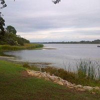 Lake Bastrop: swimming area and lake shore