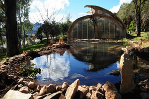 Hot house and rain water pond