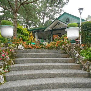 The walkway to the house