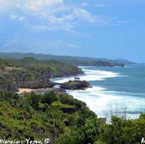 Kukup Beach, view from Baron uphill